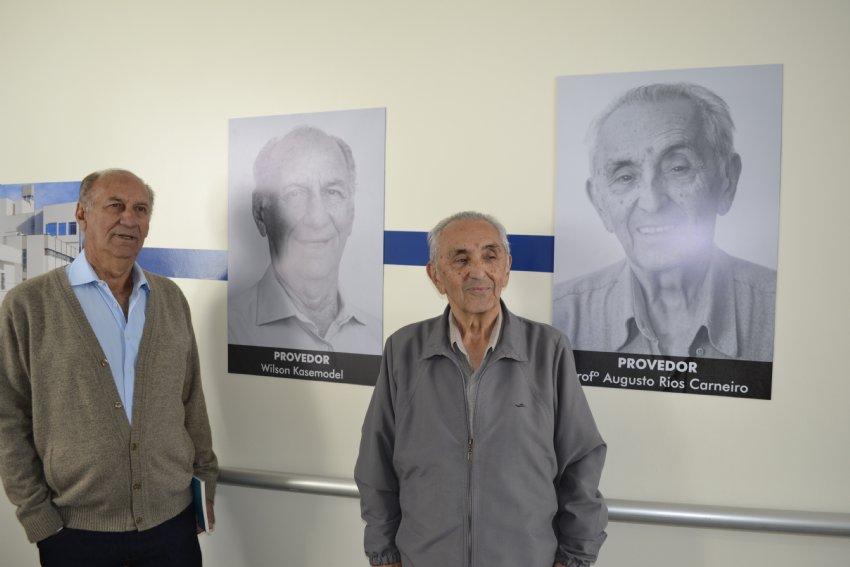 Vice-provedor Wilson Kasemodel e Provedor Augusto Rios Carneiro