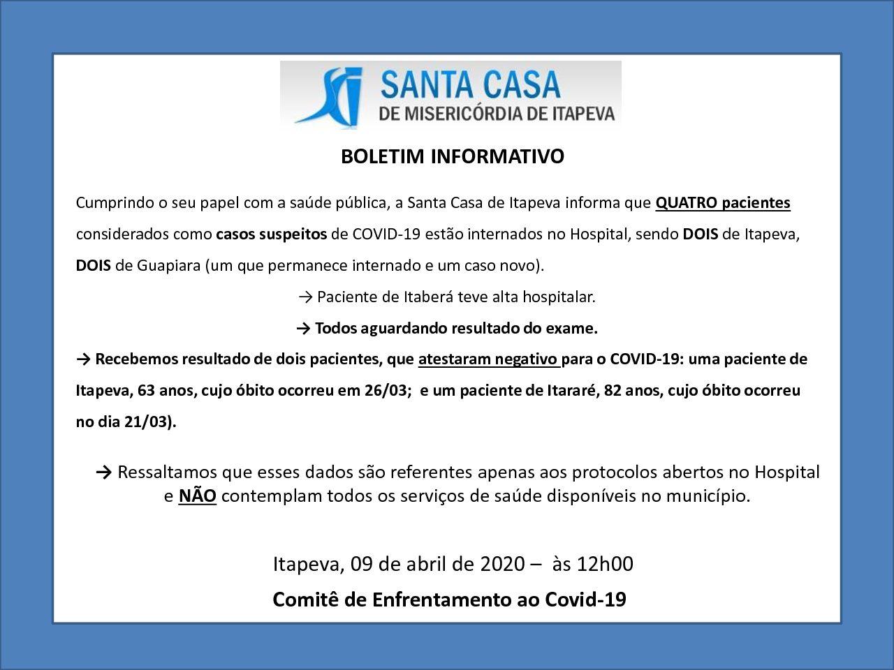 Boletim Informativo – 09/04/20