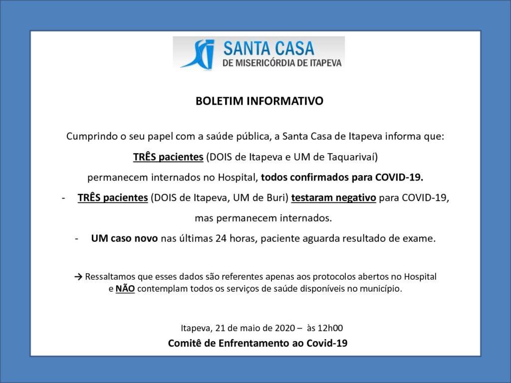 Boletim Informativo - 21/05/20