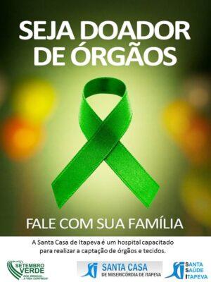 """Santa Casa faz campanha para que o tema """"doação de órgãos"""" seja debatido entre familiares"""