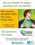 Setembro Verde: converse sobre a sua família sobre doação de ógãos.